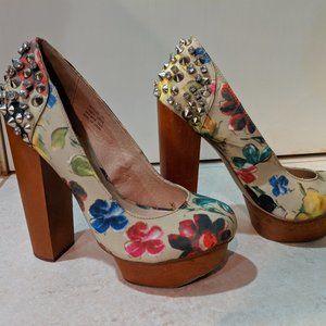 Zigi soho Floral Spiked Platform Heels